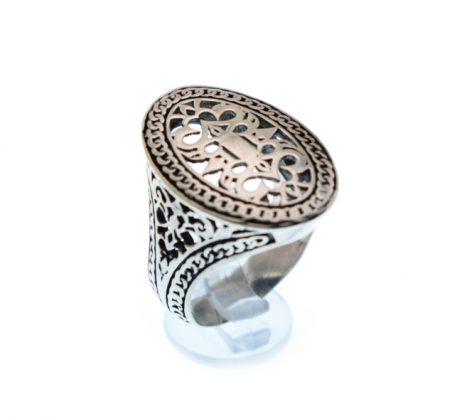 Κοφτό Οξιντέ Ασημένιο Δαχτυλίδι