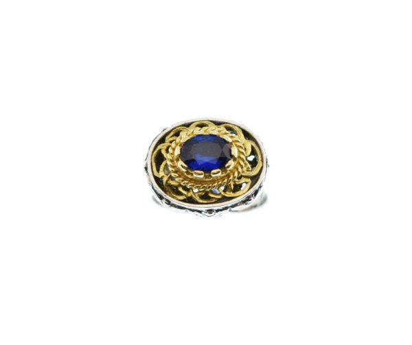 Ασημόχρυσο Παραδοσιακό Δαχτυλίδι
