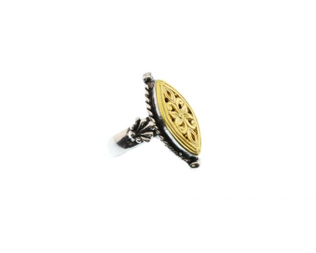 Παραδοσιακό Ασημόχρυσο Δαχτυλίδι