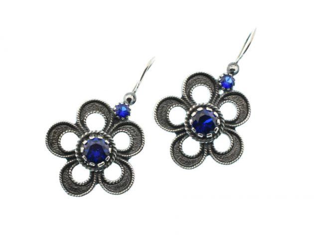 Σκουλαρίκια με Μπλε Ζιργκόν
