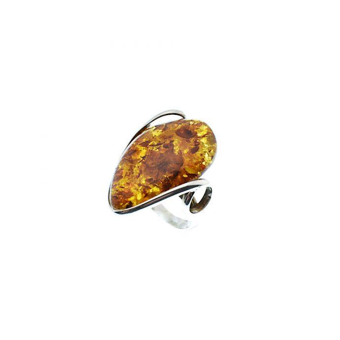 Μοντέρνο Δαχτυλίδι με Κεχριμπάρι