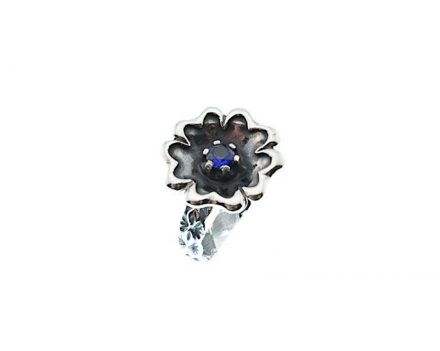 Οξινταρισμένο Δαχτυλίδι με Μπλε Ζιργκόν
