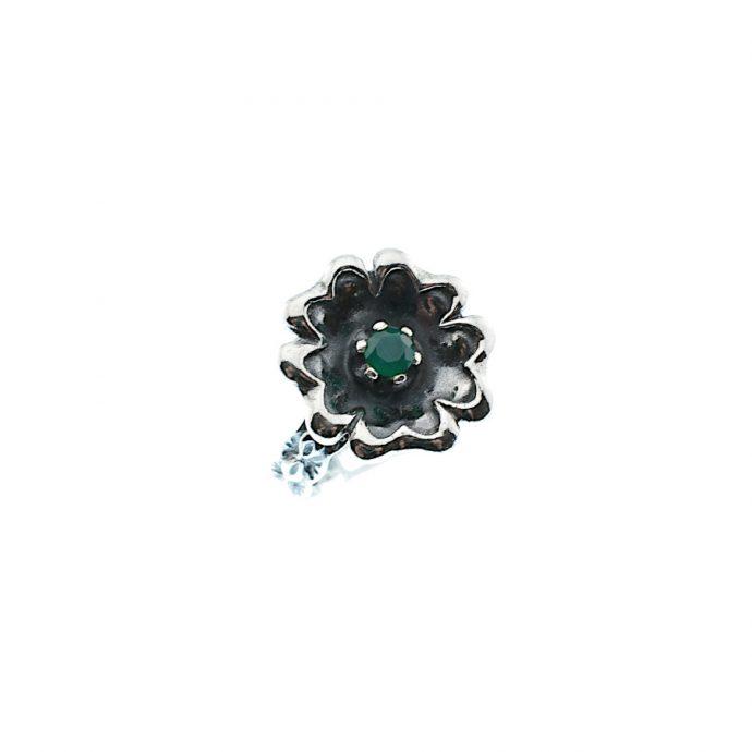 Οξινταρισμένο Δαχτυλίδι με Πράσινο Ζιργκόν