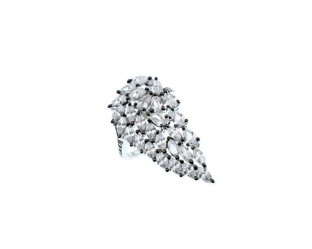Επιπλατινωμένο Δαχτυλίδι με Ζιργκόν